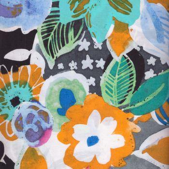 andquotNewandquot Jams World Cotton Fabric by Hoffman California 4 007 colour Blue