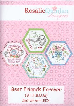 best friends forever stitchery by rosalie quinlan