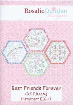 best friends forever stitchery by rosalie quinlan