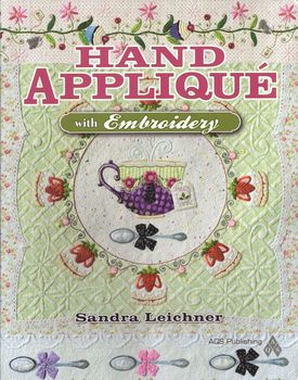 hand applique with embroidery from sandra leichner