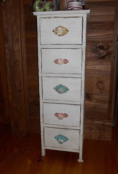 reproduction vintage set of drawers