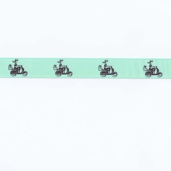 vintage french scooter tape non woven