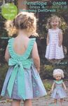 penelope dress and matching doll dress by olive ann designs