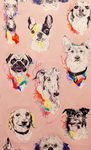 Alexander Henry Bow Wow Wow Dogs Fabric 8451 Pink