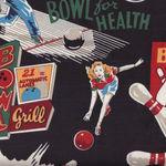 Alexander Henry Fabric Bowl For Health  6135AR Black