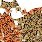 Alexander Henry Fabric Kenyon Cat  De Leon Design Group 8801A.
