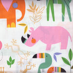 Alexander Henry Fabric Zoo Bisou 8258 A White