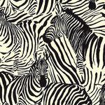 Alexander Henry Fabrics Africa 8798 Colour BR Zendaya Black/Cream Zebras.