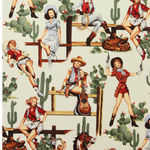 Alexander Henry From The Hip Nicoles Prints Vintage Cowgirls 2494A