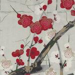 Alexander Henry Golden Garden Cherry Blossom Fabric M7614 DR Pale Grey New Colou