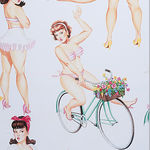 Alexander Henry Good And Plenty Pin Up Girls 50's 8571A Light Cream