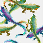 Alexander Henry I Wanna Iguana Fabric 8812 Color A White.