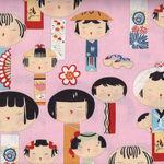 Alexander Henry Kui Kokeshi 67570 Colour A Pink