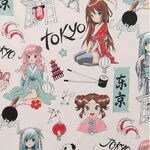 Alexander Henry Nicole's Prints Tokyo Dream DE#8876 AR Patchwork Fabric.
