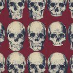Alexander Henry Rad Skull Fabric 8220 D