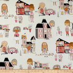 Alexander Henry Welcome To My Dollhouse Cotton Fabric 8681 C Light Cream
