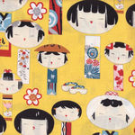Alexander Henry Yui Kokeshi Fabric 6757 colour D Ginger