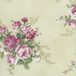 Amy-Roses By Stoffabrics 4501 155 Antique Green.