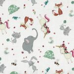 Animal Alpabet by Deane Beesley Designs for P & B Fabrics ANIA 04477 Col MU