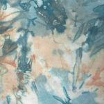 Anthology Batik  Cotton Fabric 1896 Colour Blue/Custard