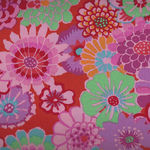 Asian Circles Fabric by Kaffe Fassett Collective GP89 Colour Tomato