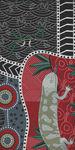 Australian Blue Tongue Lizard Black Cotton Fabric by M&S Fabric