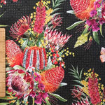 Australian Garden Twist Digital Fabric by Jason Yenter 2252 1AGT Colour 2 Black