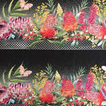 Australian Garden Twist Digital Fabric by Jason Yenter 2252 2AGT Colour 2 Black