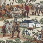 Australian Ned Kelly Cotton fabric 11530 Colour 101
