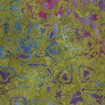 Ayu Batiks From Batik Australia M52 Color 1 Green/Multi