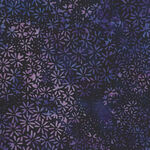 Bali Batik By Hoffman Fabric HQ2201 358 Vegas. Black/Purple/Mauve Daisy.
