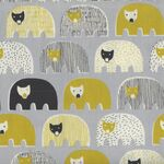 Bears Speciality Japanese Cotton Fabric 1021-1210 Colour 3A Grey.
