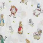 Beatrix Potter Peter Rabbit Fabric by Visage 2565 D1 Multi Characters