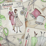 Betterstitch for Blank Textiles Pattern 9383 Color 41 Vintage Sewing Theme.