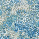 Blue Symphony by Greta Lynn for Benartex Fabric Symphony Blossom- CM7793 Blue/Wh