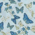 Blue Symphony by Greta Lynn for Benartex Fabric Symphony Butterfly- CM7790 Blue