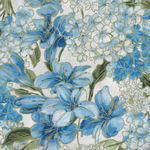 Blue Symphony by Greta Lynn for Benartex Fabric Symphony Floral- CM7792 Blue/Whi