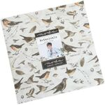 """Botanicals Layer Cake by Janet Clare For Moda Fabric 42 x 10"""" Squares 16910LC."""