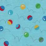 Bounce By Allison Harris For Windham Fabrics Patt.51053 Blue Bouncing Balls.