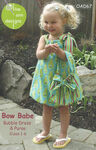 Bow Babe Childs Dress Pattern From Olive Ann Designs OAD67 Sizes 1Through 6.