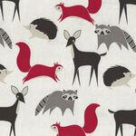 Bramble By Gingiber For Moda Fabrics M48282 11 Grey/Black/Red.