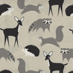 Bramble By Gingiber For Moda Fabrics M48282 14 Grey/Taupe/Black