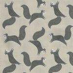 Bramble By Gingiber For Moda Fabrics M48283 14 Cream/Grey/Black Squirrels.