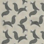 Bramble By Gingiber For Moda Fabrics M48283 14 Cream/Grey/Black Squirrels.