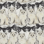 Cats By Sevenberry Fabrics 850321 Col.1. Black/Cream.