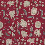 Chafarcani By French General For Moda Fabrics M13853-11  Red/Taupe