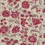 Chafarcani By French General For Moda Fabrics M13853-12  Red/Light Taupe