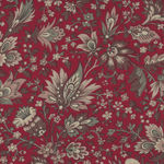 Chafarcani By French General For Moda Fabrics M13860-11 Red/Taupe