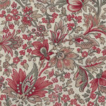 Chafarcani By French General For Moda Fabrics M13860-12  Cream/Red