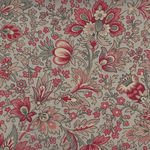 Chafarcani By French General For Moda Fabrics M13860-15 Taupe/Red